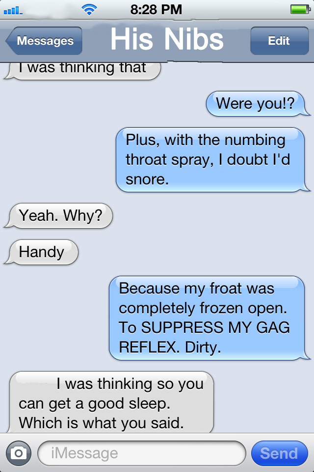 Yes. My conversations are always this graceful.
